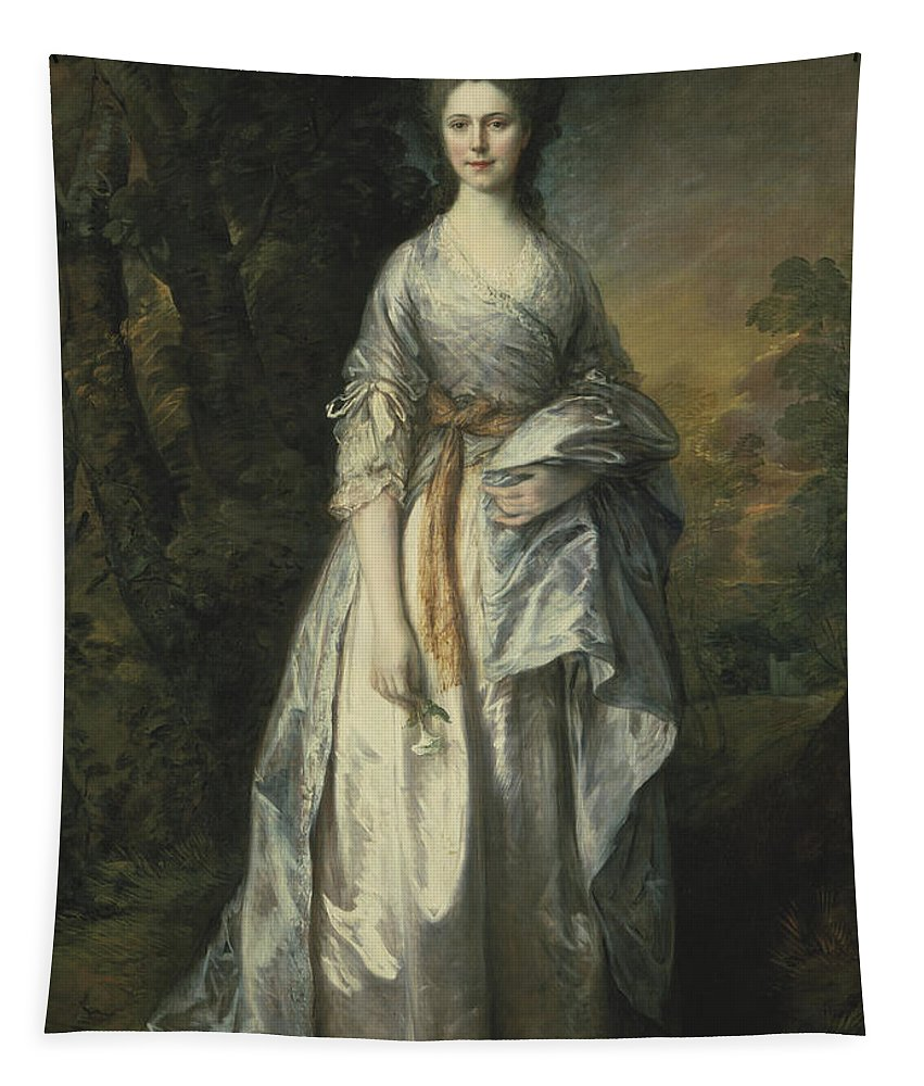 Gainsborough Tapestry featuring the painting Maria Lady Eardley, 1766 by Thomas Gainsborough