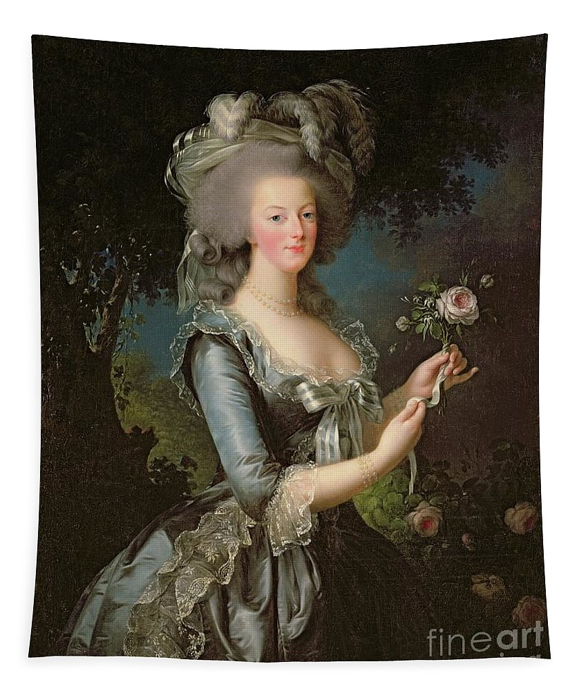 Marie Tapestry featuring the painting Marie Antoinette by Elisabeth Louise Vigee Lebrun