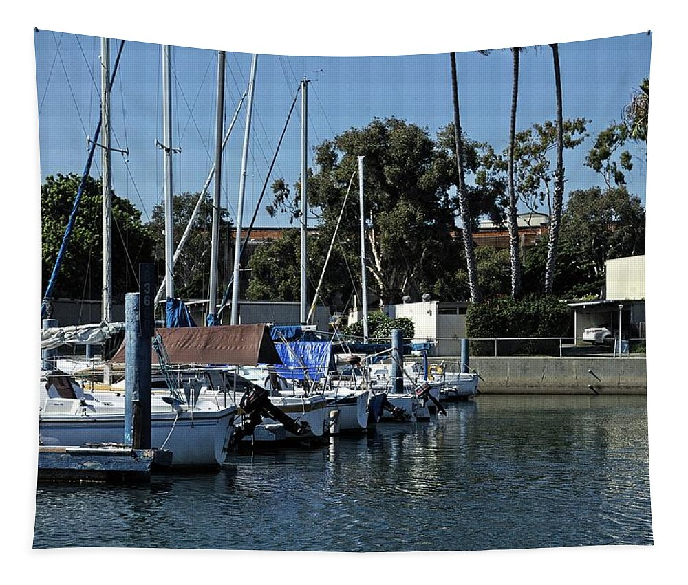 Boats Tapestry featuring the photograph Marina Del Rey California 2 by Karl Rose