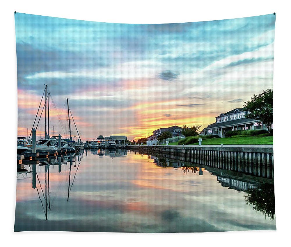 2d Tapestry featuring the photograph Marina Walk To Hemingway's by Brian Wallace