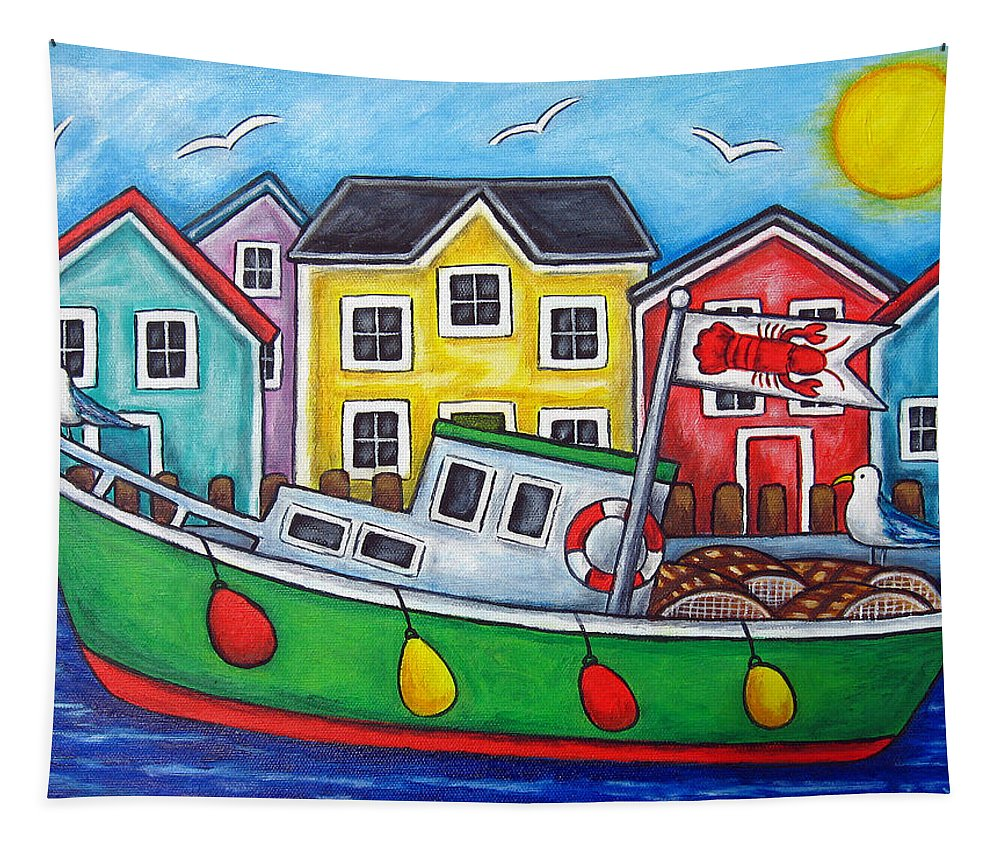 Lisa Lorenz Tapestry featuring the painting Maritime Special by Lisa Lorenz