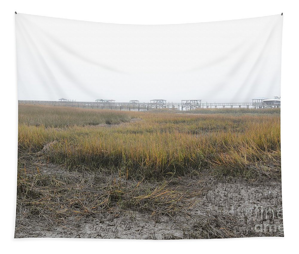 Marsh Tapestry featuring the photograph Marsh Grass Fog by Dale Powell