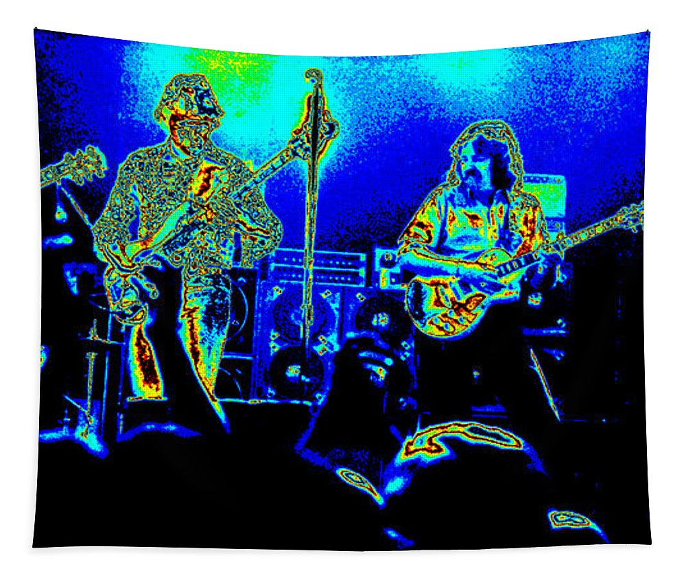 Marshall Tucker Tapestry featuring the photograph Marshall Tucker Winterland 1975 #18 In Special Cosmicolors by Ben Upham