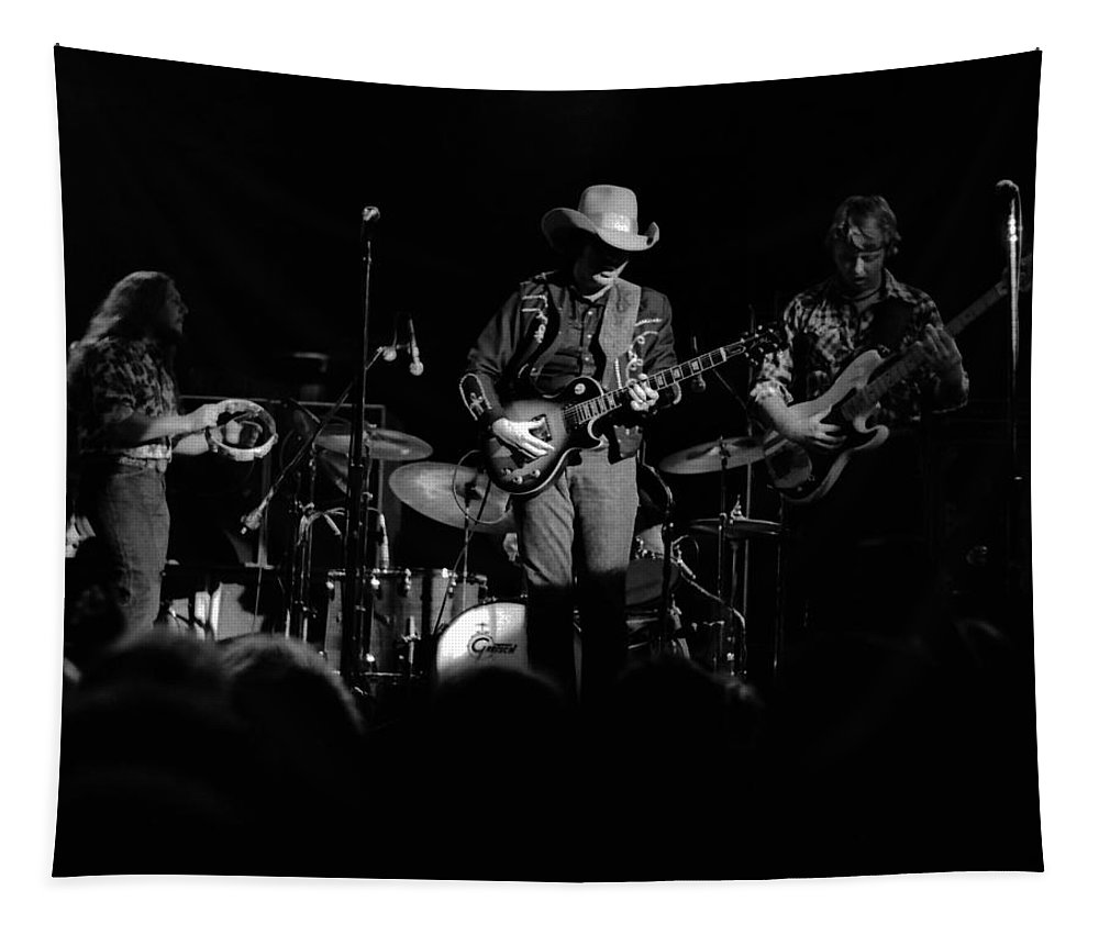 Marshall Tucker Tapestry featuring the photograph Marshall Tucker Winterland 1975 #21 by Ben Upham