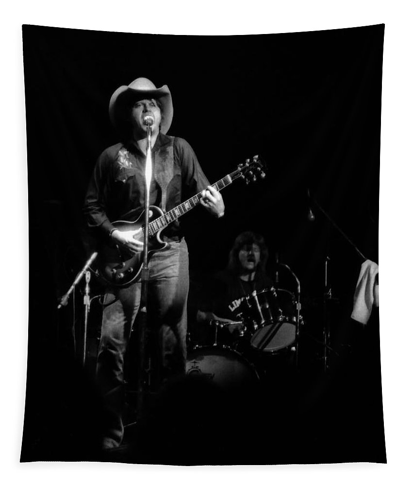 Marshall Tucker Tapestry featuring the photograph Marshall Tucker Winterland 1975 #26 by Ben Upham