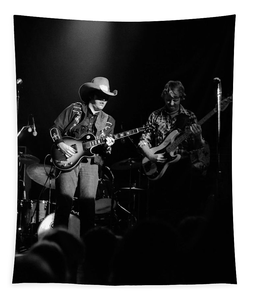 Marshall Tucker Tapestry featuring the photograph Marshall Tucker Winterland 1975 #3 Crop 2 by Ben Upham