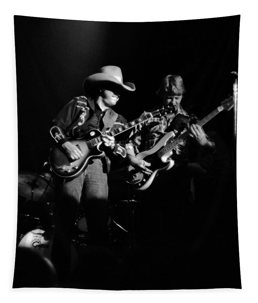 Marshall Tucker Tapestry featuring the photograph Marshall Tucker Winterland 1975 #4 by Ben Upham