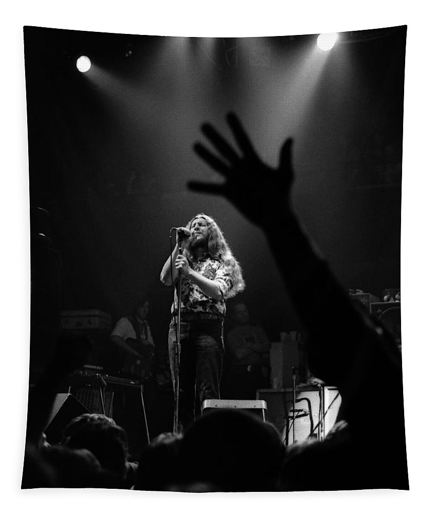 Marshall Tucker Tapestry featuring the photograph Marshall Tucker Winterland 1975 #6 Crop 2 by Ben Upham