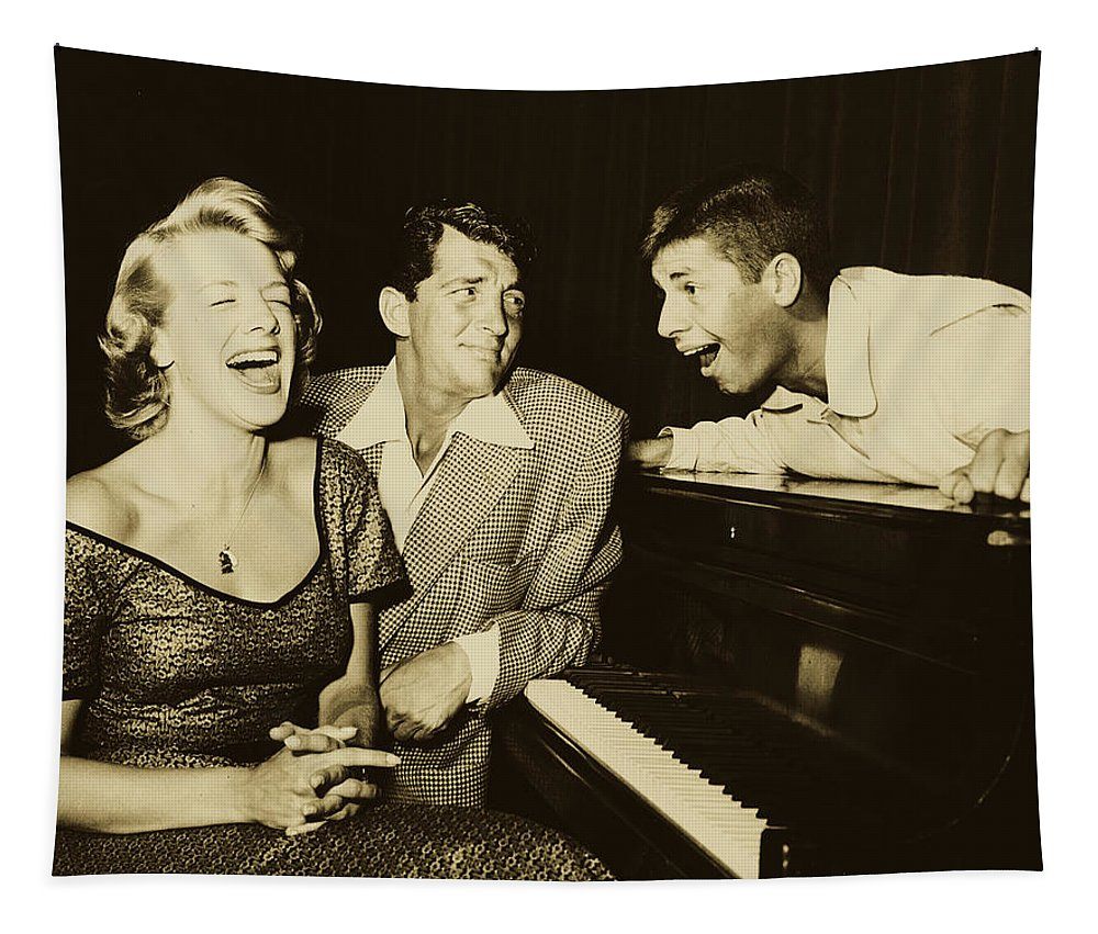 Dean Martin Tapestry featuring the photograph Martin, Lewis, And Clooney by Mountain Dreams