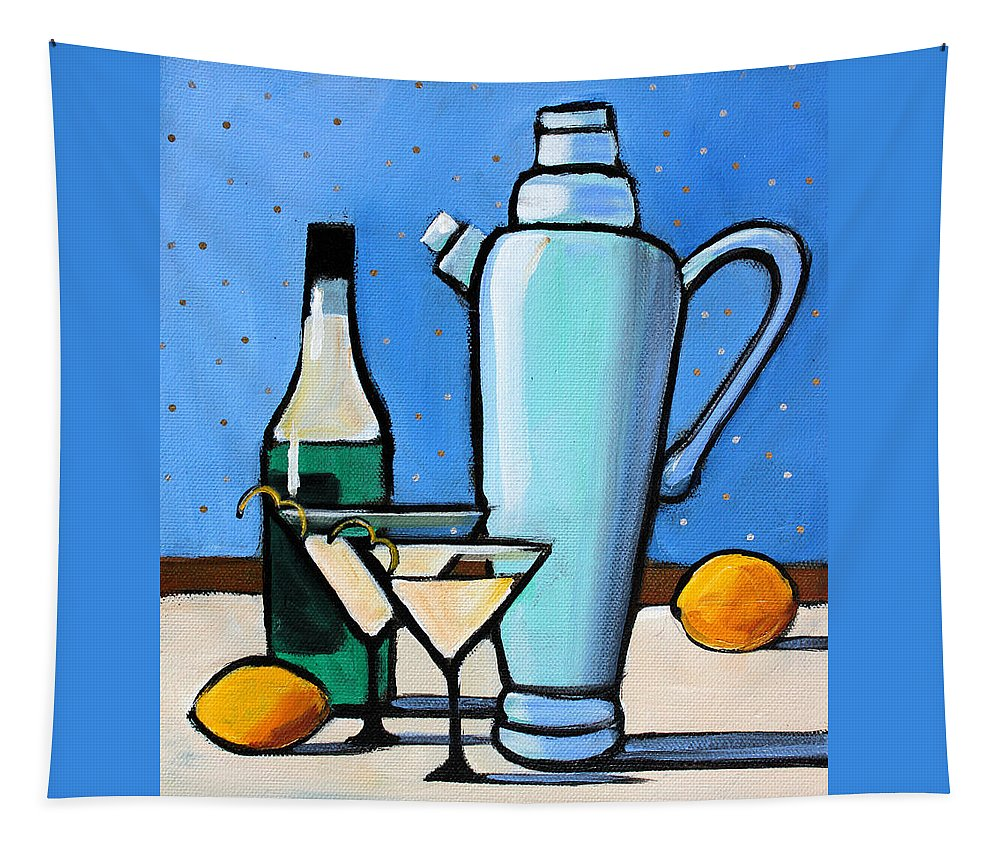 Martini Tapestry featuring the painting Martini Night by Toni Grote