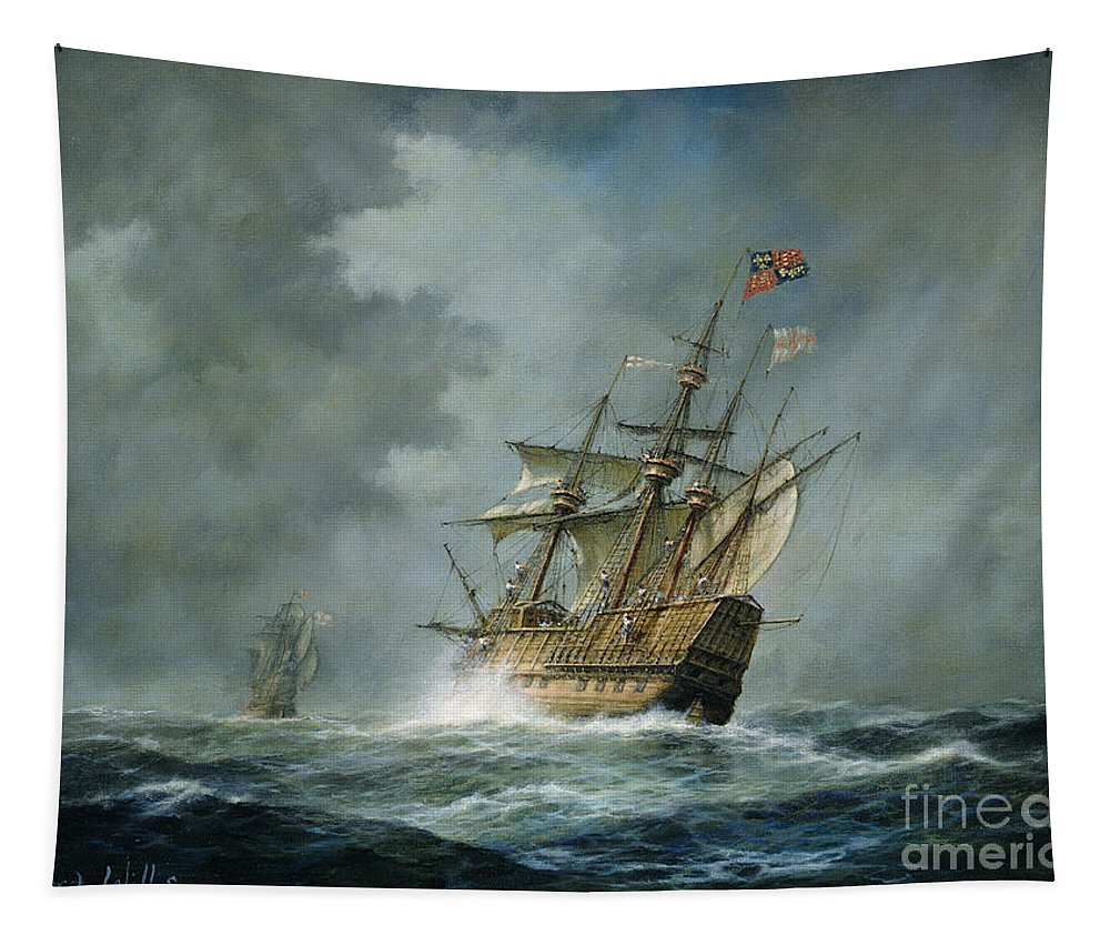 Mary Rose Tapestry featuring the painting Mary Rose by Richard Willis