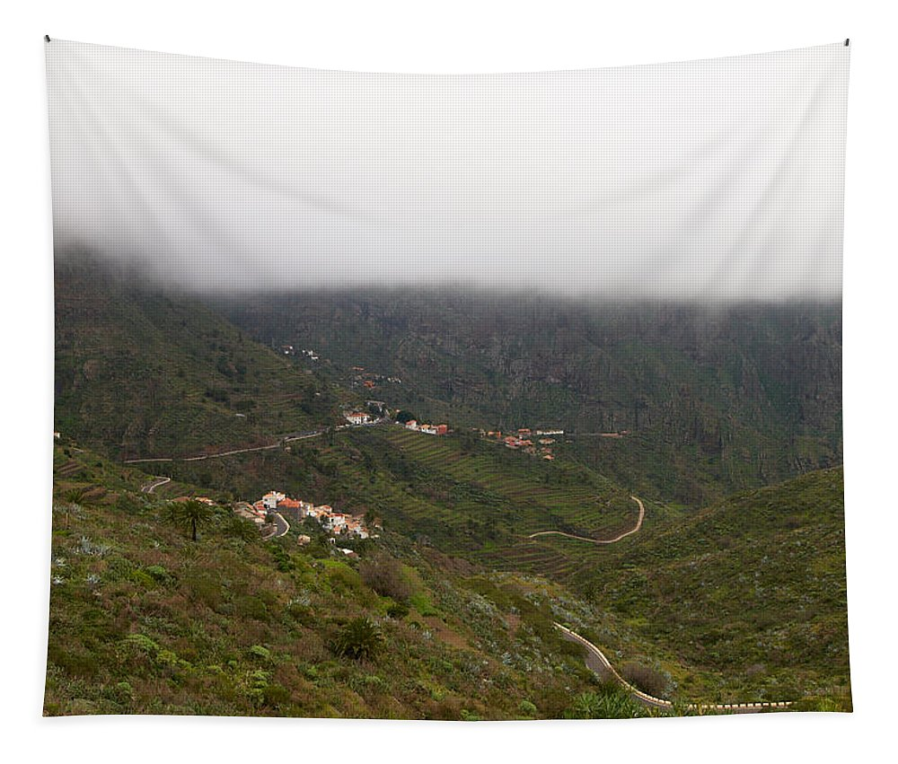 Landscape Tapestry featuring the photograph Masca Valley And Parque Rural De Teno 7 by Jouko Lehto