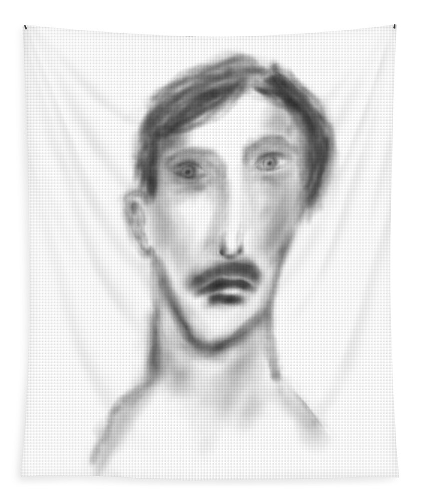 Apple Pencil Drawings Tapestry featuring the drawing Mateo by Bill Owen
