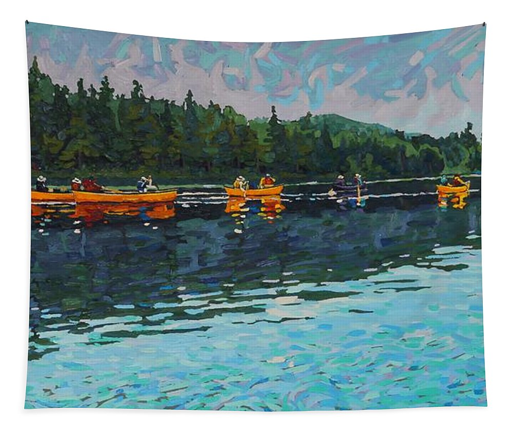2068 Tapestry featuring the painting Mattawa Outward Bound by Phil Chadwick