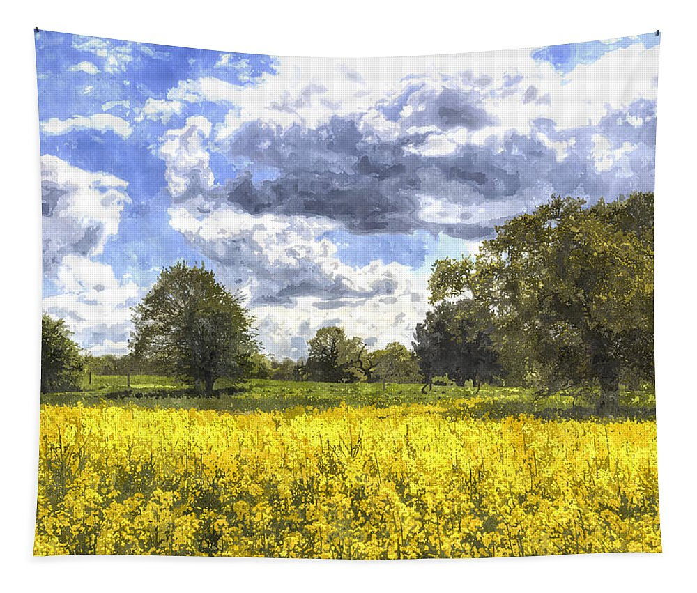 Watercolor Tapestry featuring the photograph May Farm Art by David Pyatt