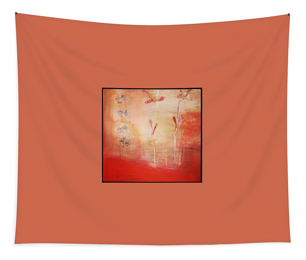 Red Tapestry featuring the painting May You Soar by Patricia Byron