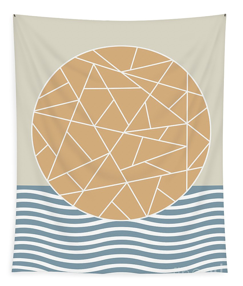 Abstract Tapestry featuring the digital art Maybe The Sea by Absentis Designs