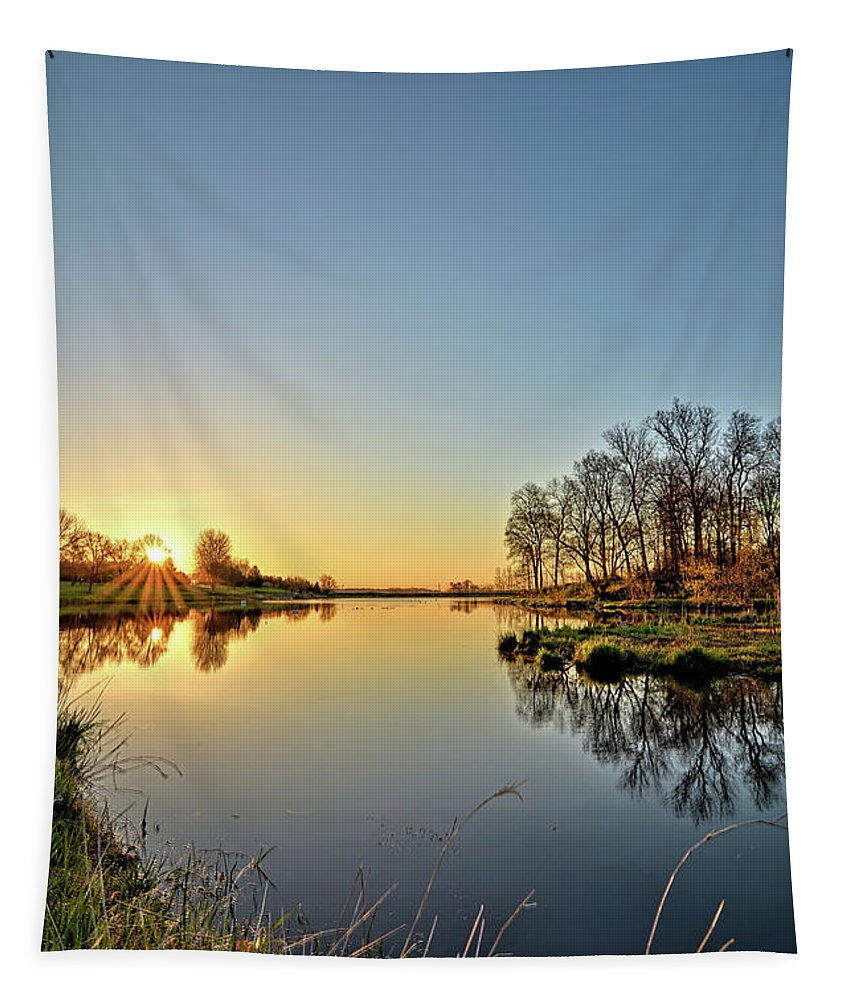 Sunrise Tapestry featuring the photograph Maynes Grove Spring Rise 2 by Bonfire Photography
