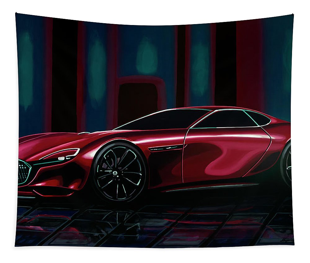 Mazda Rx Vision Tapestry featuring the painting Mazda Rx Vision 2015 Painting by Paul Meijering