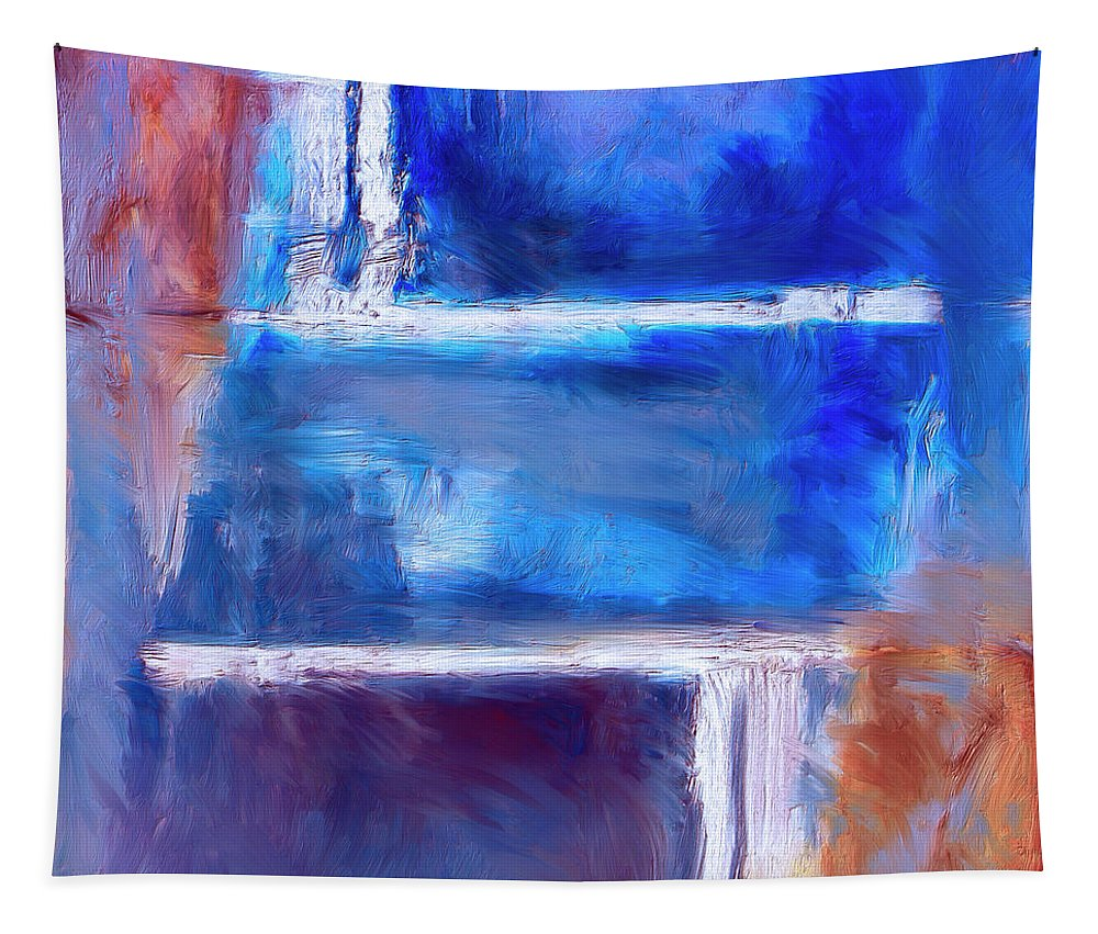 Abstract Tapestry featuring the painting Maze by Dominic Piperata