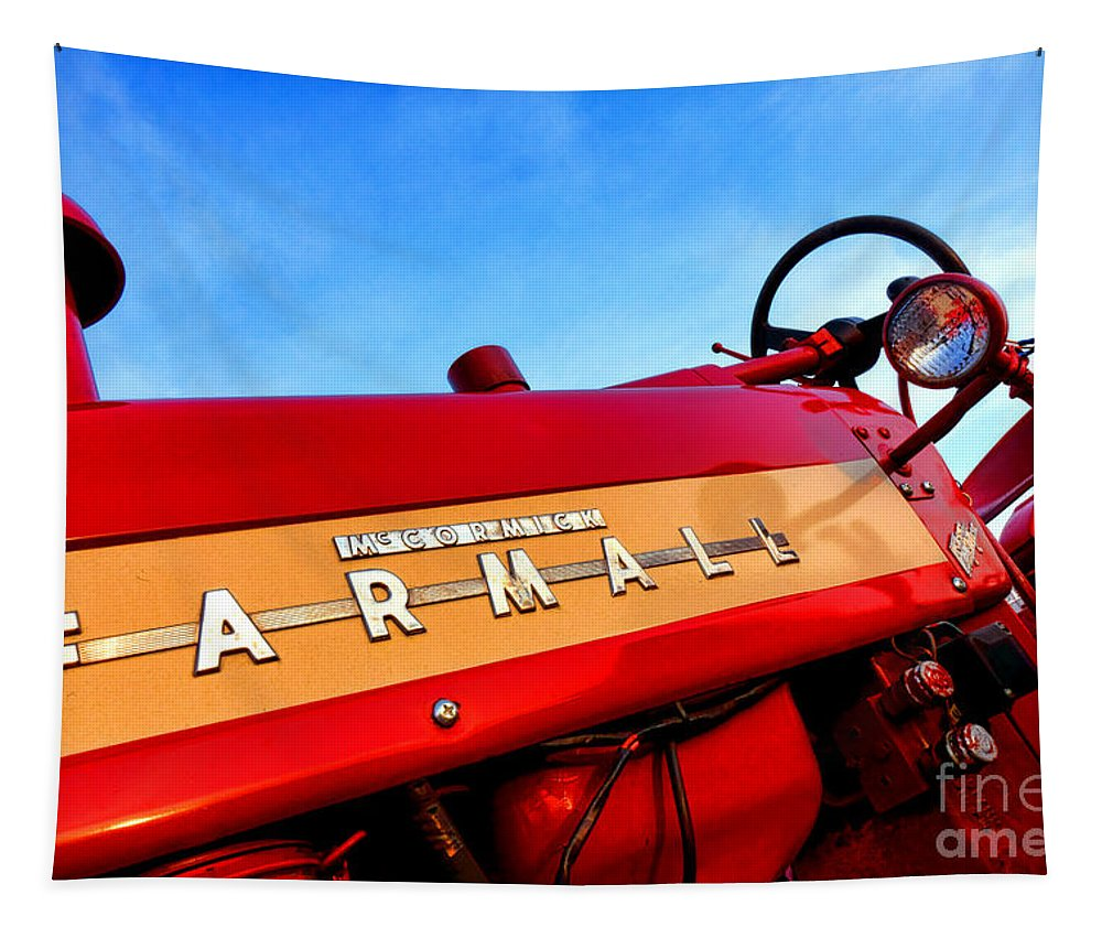 Mccormick Tapestry featuring the photograph Mccormick Farmall 450 by Olivier Le Queinec