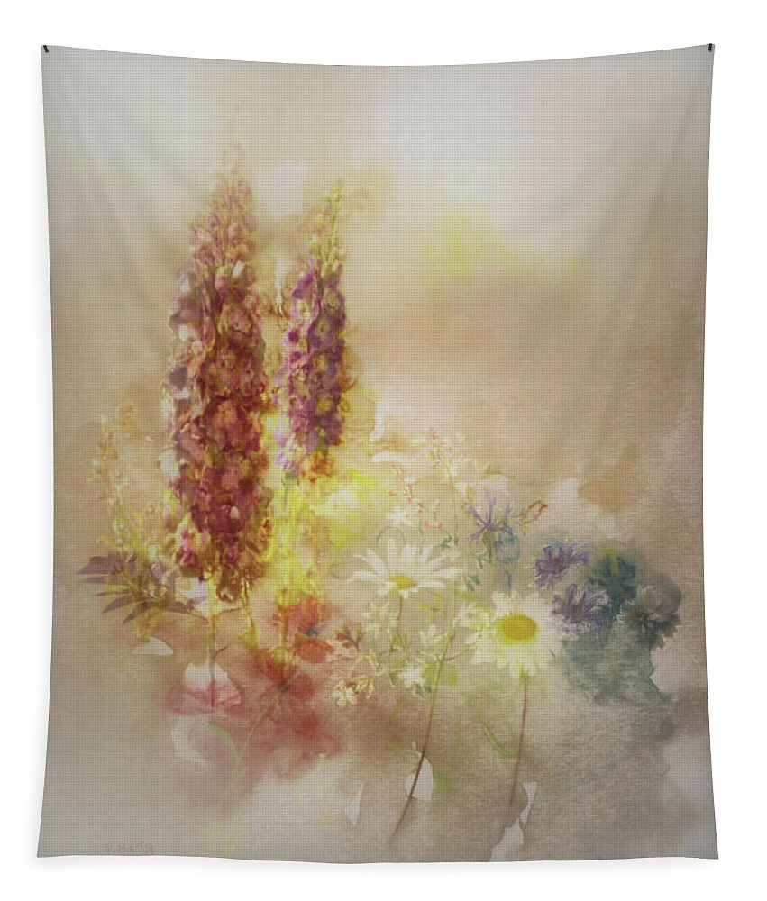 Flowers Tapestry featuring the painting Meadowsweet by Valerie Anne Kelly
