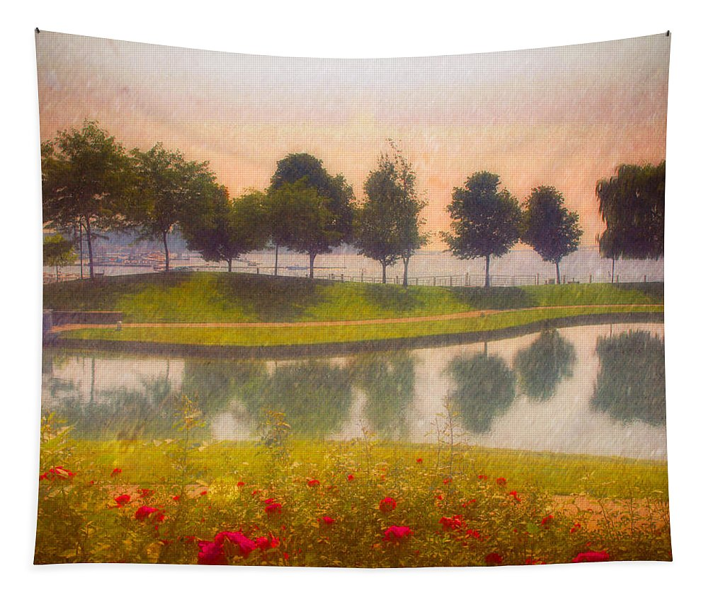 Trees Tapestry featuring the photograph Measured Reflections by Tara Turner