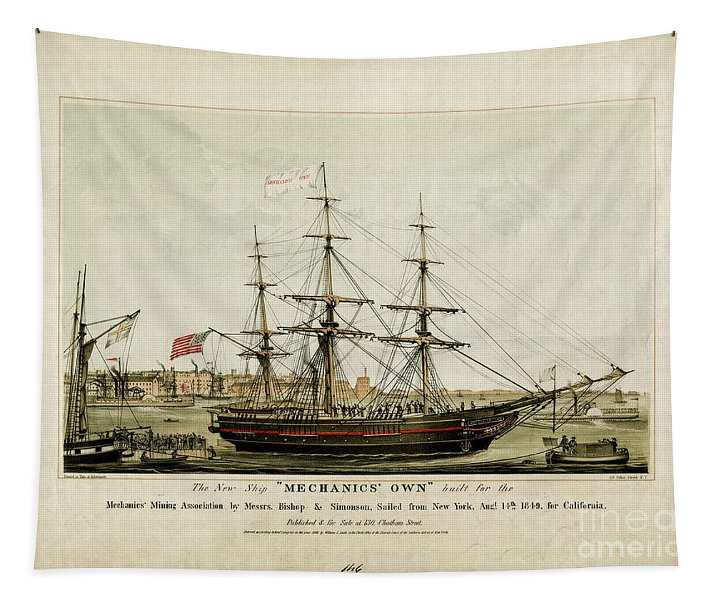 Ship Tapestry featuring the photograph Mechanics Own by Dale Powell