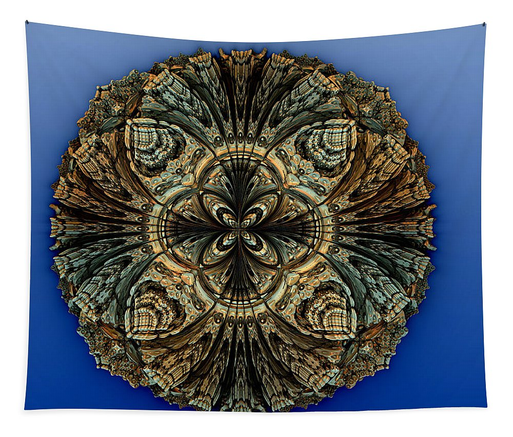 Fractal Tapestry featuring the digital art Medallion by Richard Ortolano