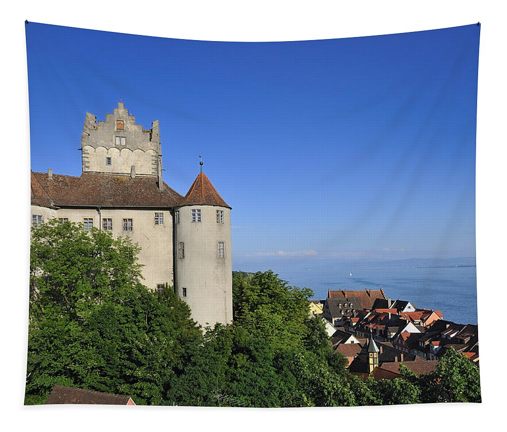 Meersburg Tapestry featuring the photograph Meersburg Castle - Lake Constance Or Bodensee - Germany by Matthias Hauser