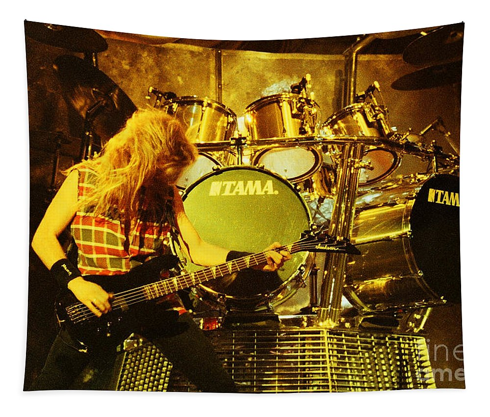 Megadeath Tapestry featuring the photograph Megadeath 93-david-0364 by Timothy Bischoff