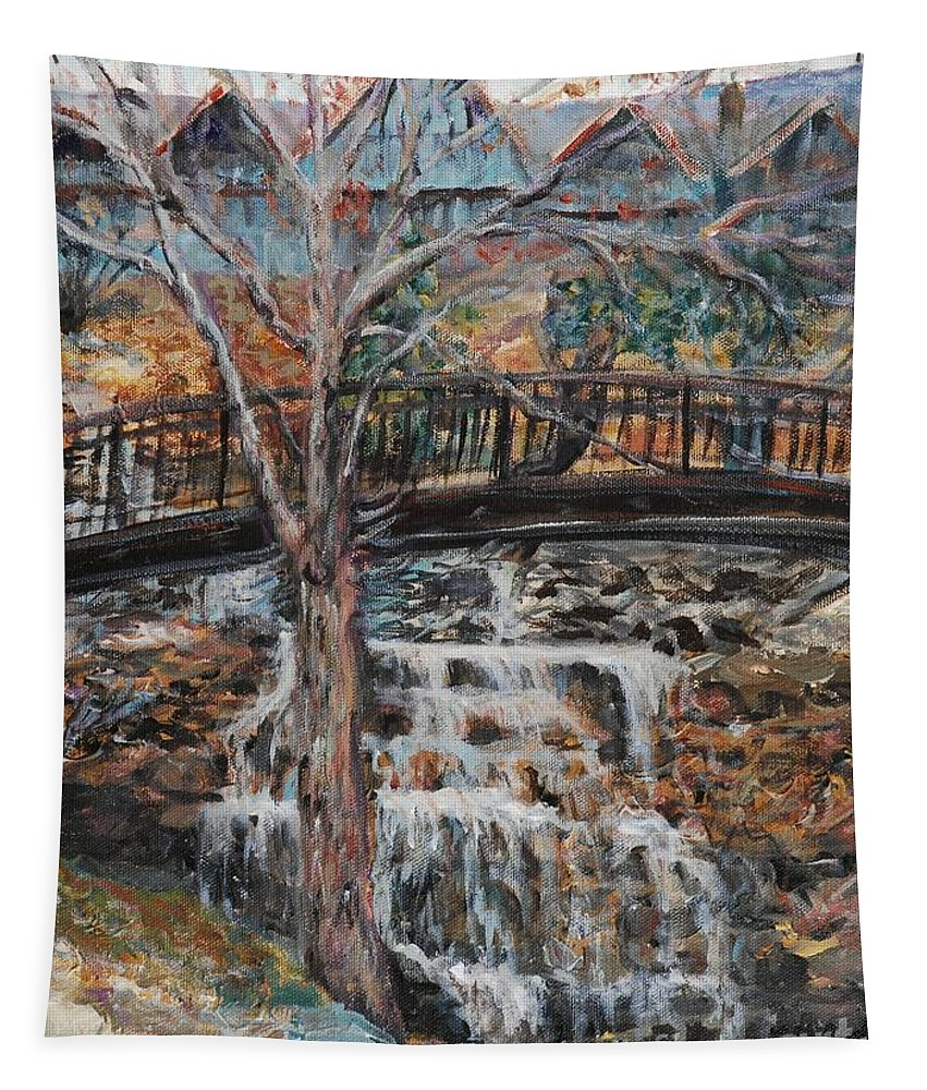 Waterfalls Tapestry featuring the painting Memories by Nadine Rippelmeyer