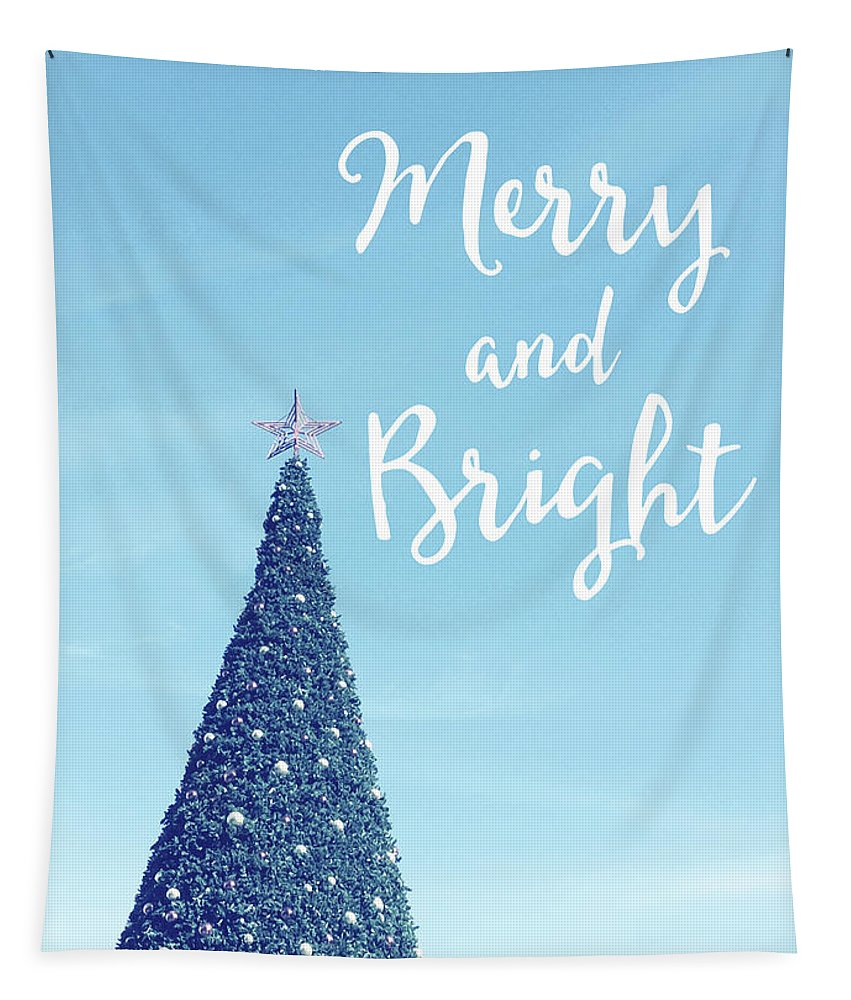 Merry And Bright Tapestry featuring the photograph Merry And Bright - Art By Linda Woods by Linda Woods