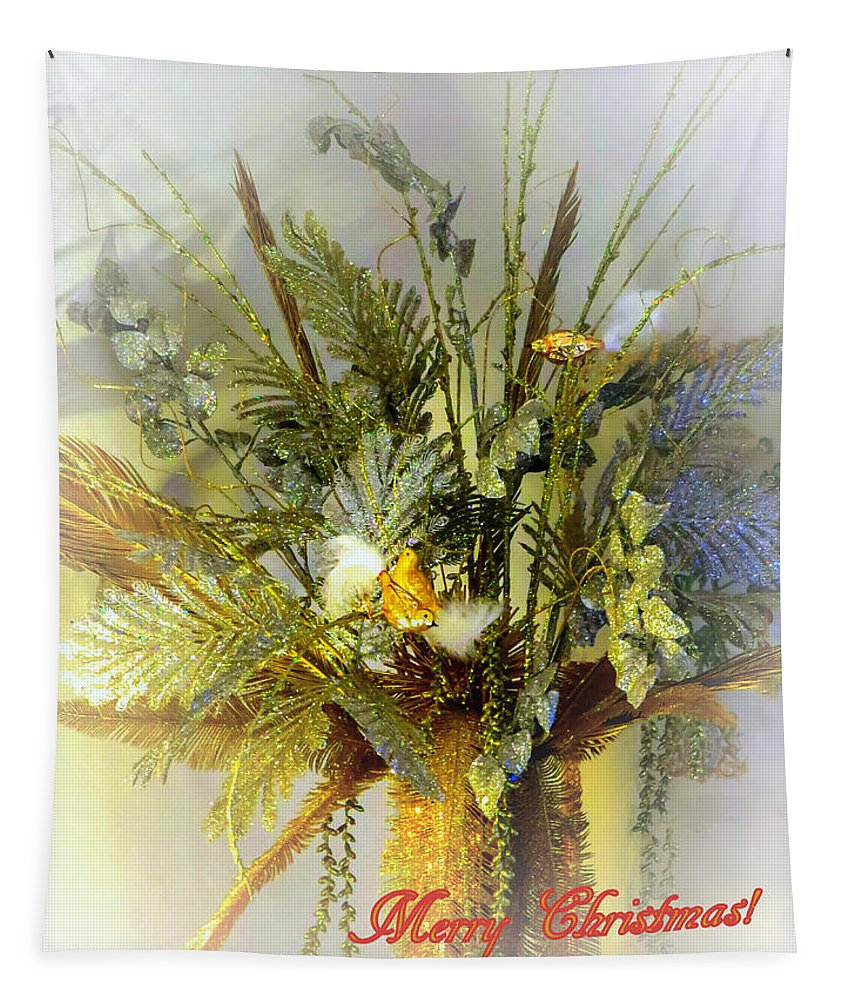 Christmas Cards Tapestry featuring the photograph Merry Christmas by Zina Stromberg