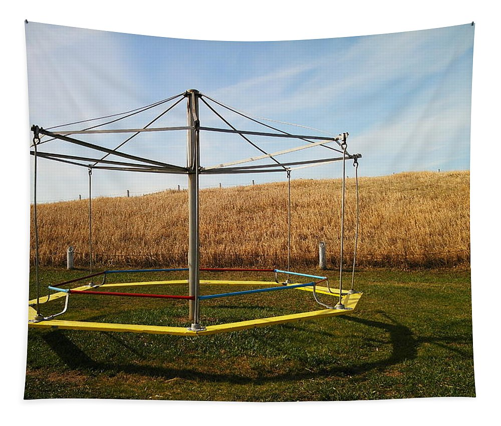 Playground Tapestry featuring the photograph Merry Go Round On The Prairie by Jeff Swan