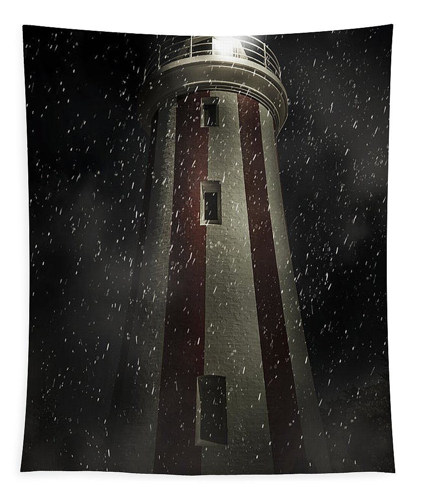 Lighthouse Tapestry featuring the digital art Mersey Bluff Lighthouse In Devonport. Fine Art by Jorgo Photography - Wall Art Gallery