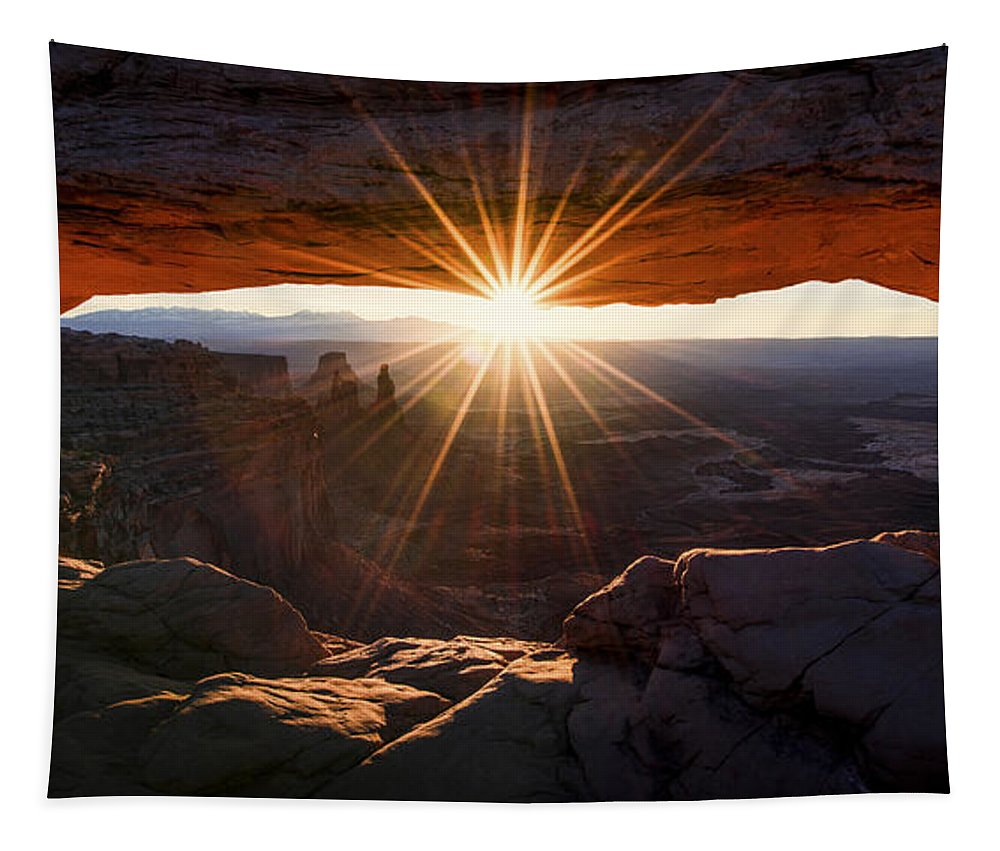 Mesa Glow Tapestry featuring the photograph Mesa Glow by Chad Dutson