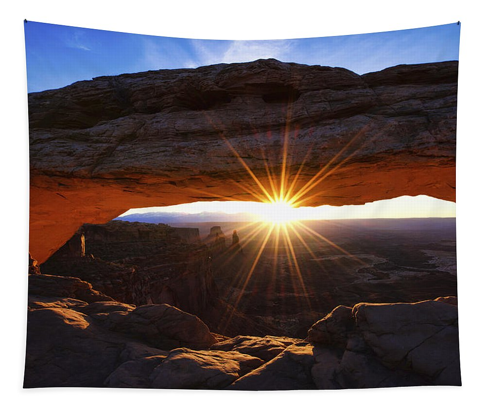 Mesa Sunrise Tapestry featuring the photograph Mesa Sunrise by Chad Dutson