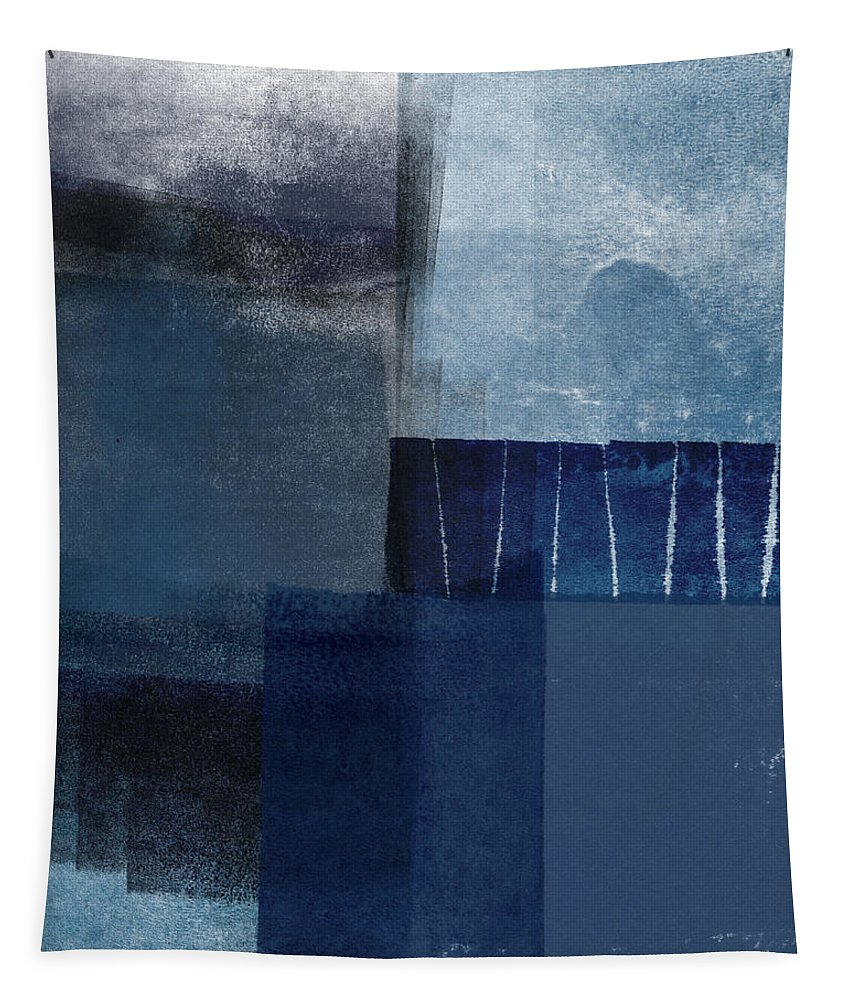 Blue Tapestry featuring the mixed media Mestro 1- Abstract Art by Linda Woods by Linda Woods