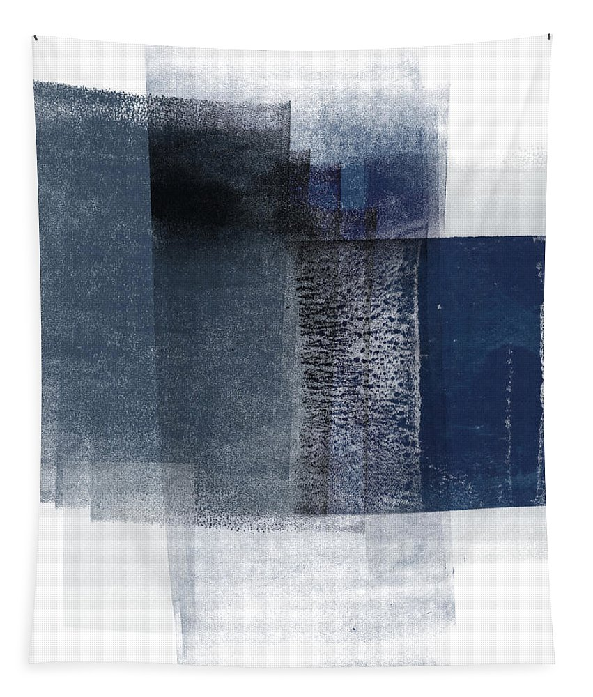 Blue Tapestry featuring the mixed media Mestro 2- Abstract Art by Linda Woods by Linda Woods
