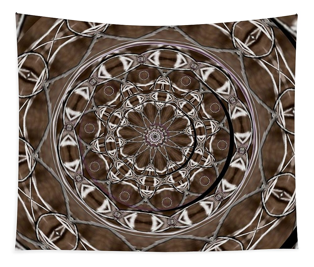 Celtic Tapestry featuring the mixed media Metal Art by Pepita Selles