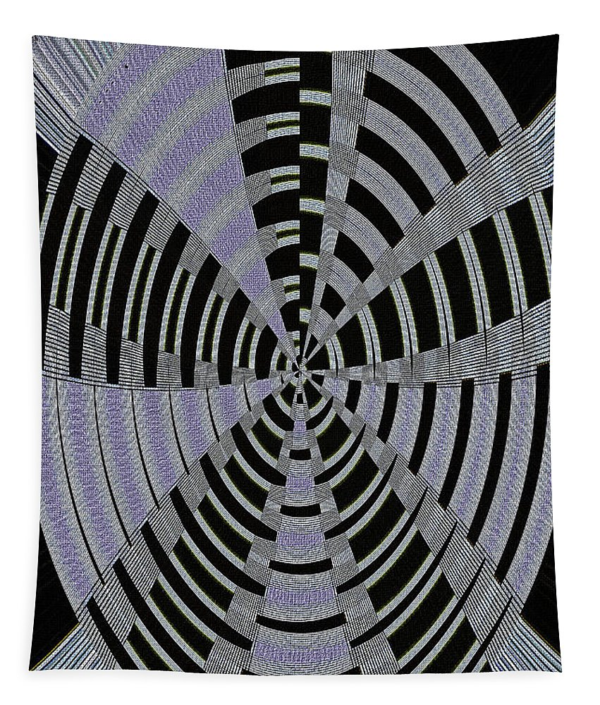 Metal Panel With Holes Abstract #3 Tapestry featuring the digital art Metal Panel With Holes Abstract #3 by Tom Janca