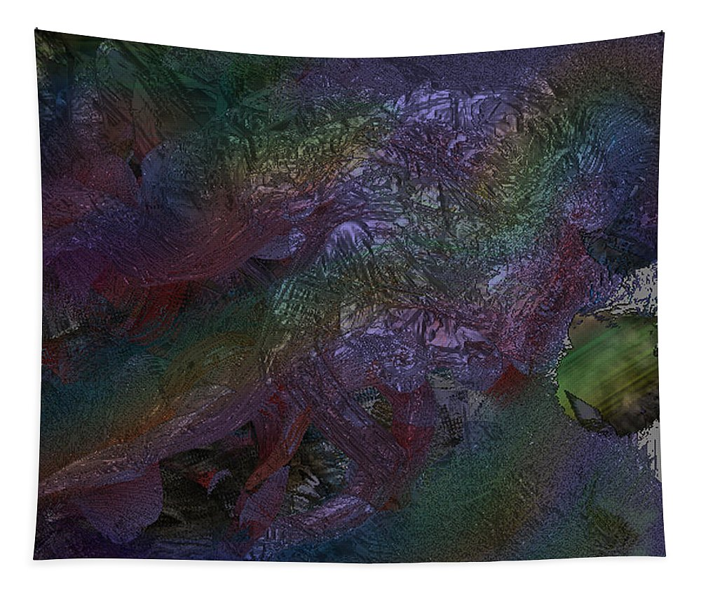 Digital Tapestry featuring the digital art Metallic Color by J P Lambert