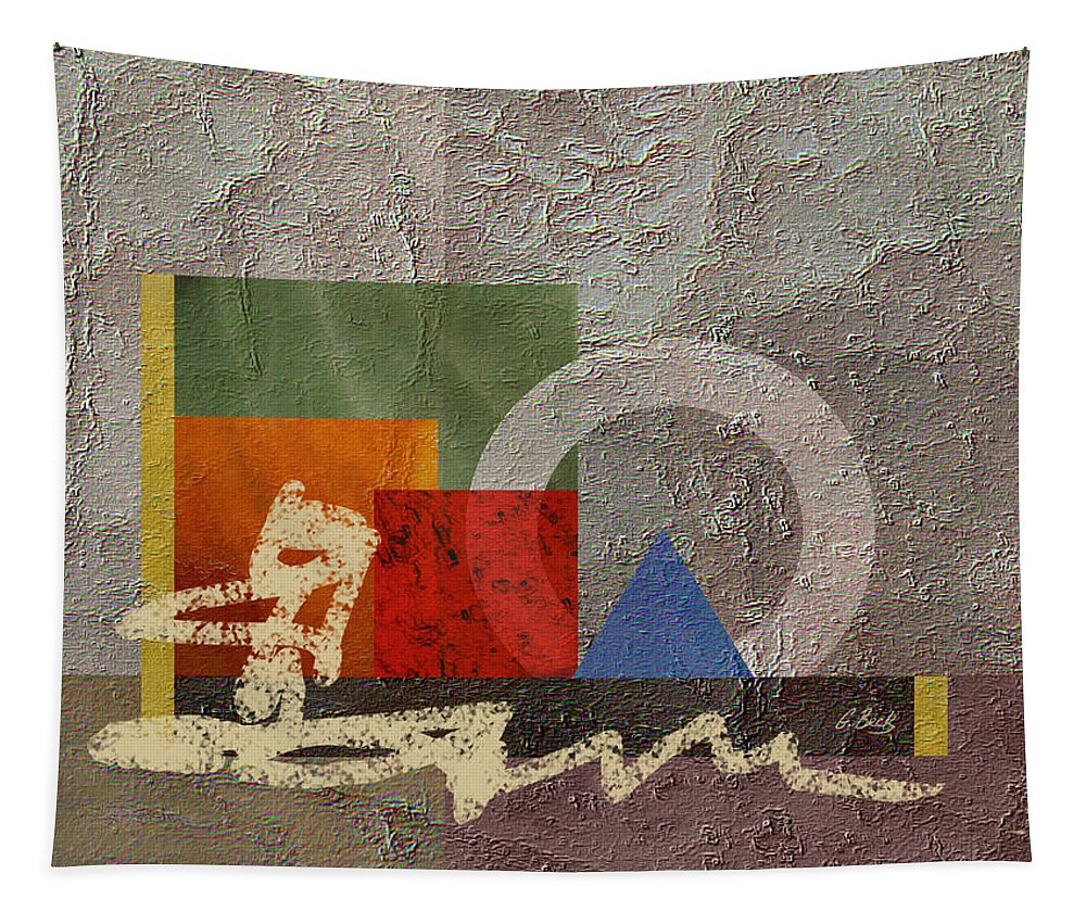 Contemporary Modern Tapestry featuring the painting Metro by Gordon Beck