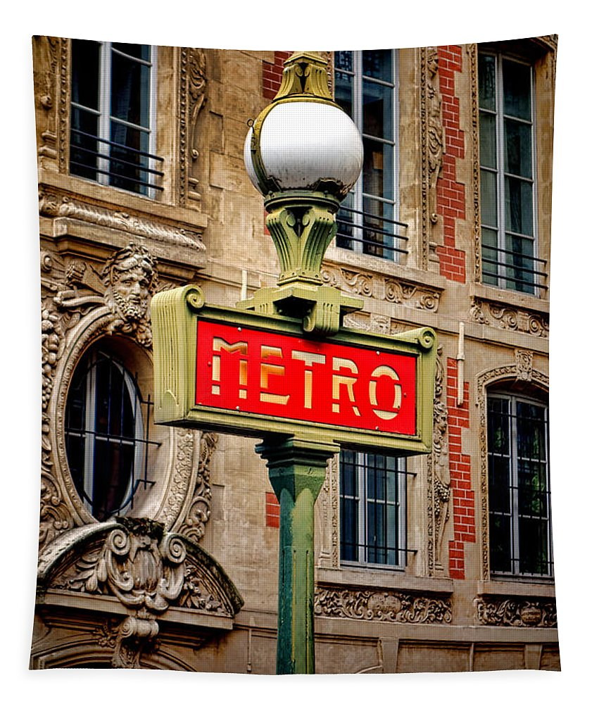 Metro Tapestry featuring the photograph Metro by Olivier Le Queinec