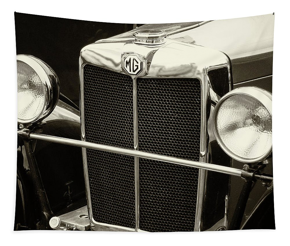 Mg Tapestry featuring the photograph Mg Tc Sports Grill - Vintage by Philip Openshaw
