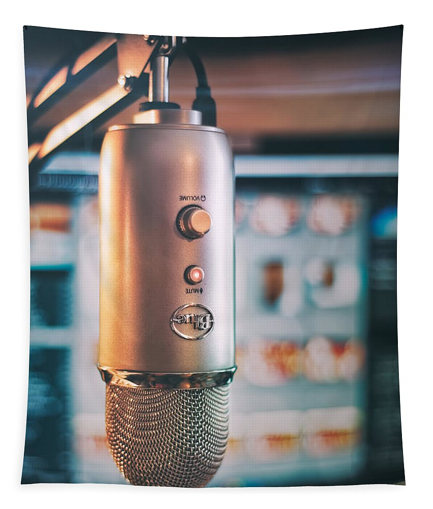 Scott Norris Photography Tapestry featuring the photograph Mic Check 1 2 3 by Scott Norris