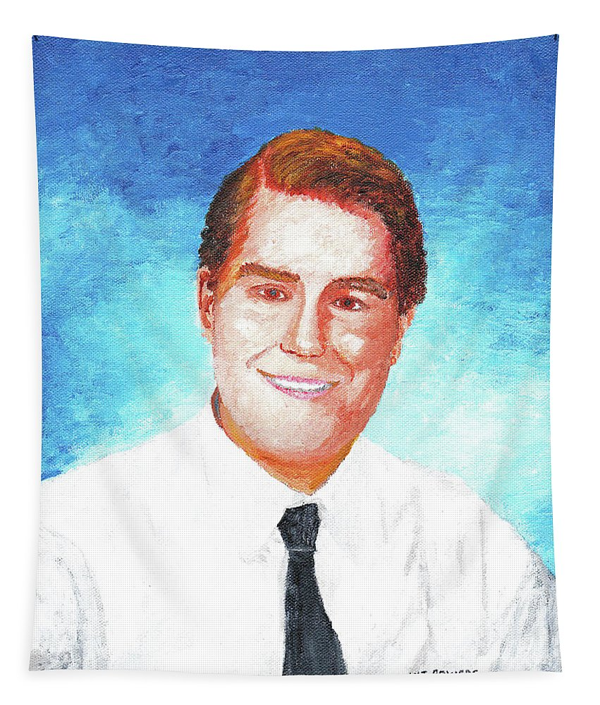 Michael Tapestry featuring the painting Michael Bowers by William Bowers