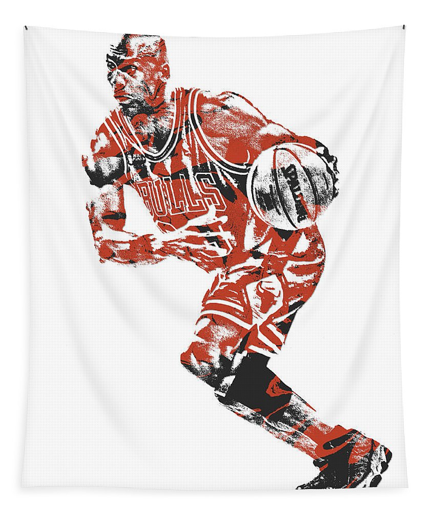 pretty nice e5227 79ea5 Michael Jordan Chicago Bulls Pixel Art 12 Tapestry