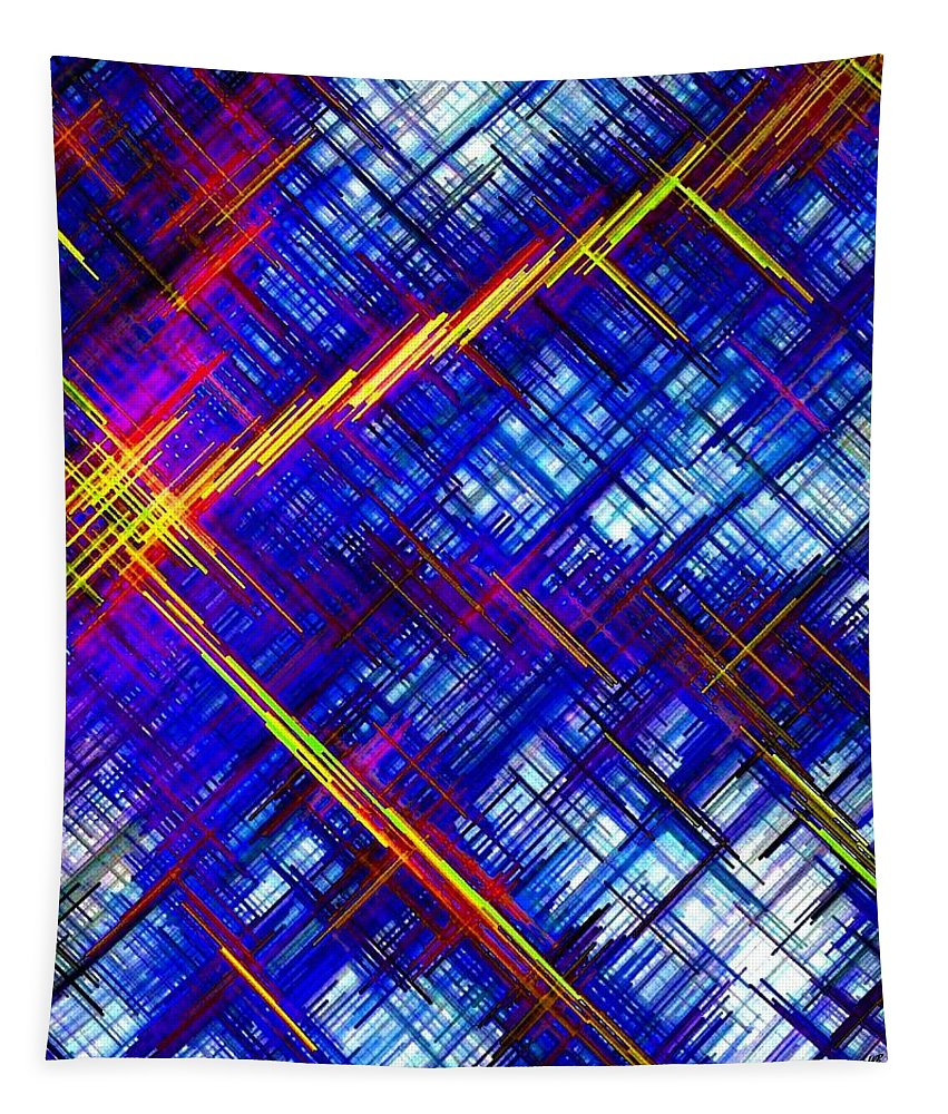 Micro Linear Tapestry featuring the digital art Micro Linear 6 by Will Borden